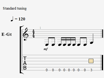 Example with notes