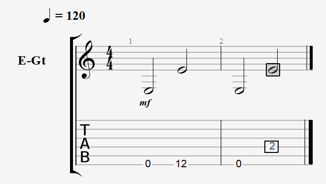 Few examples of the octave